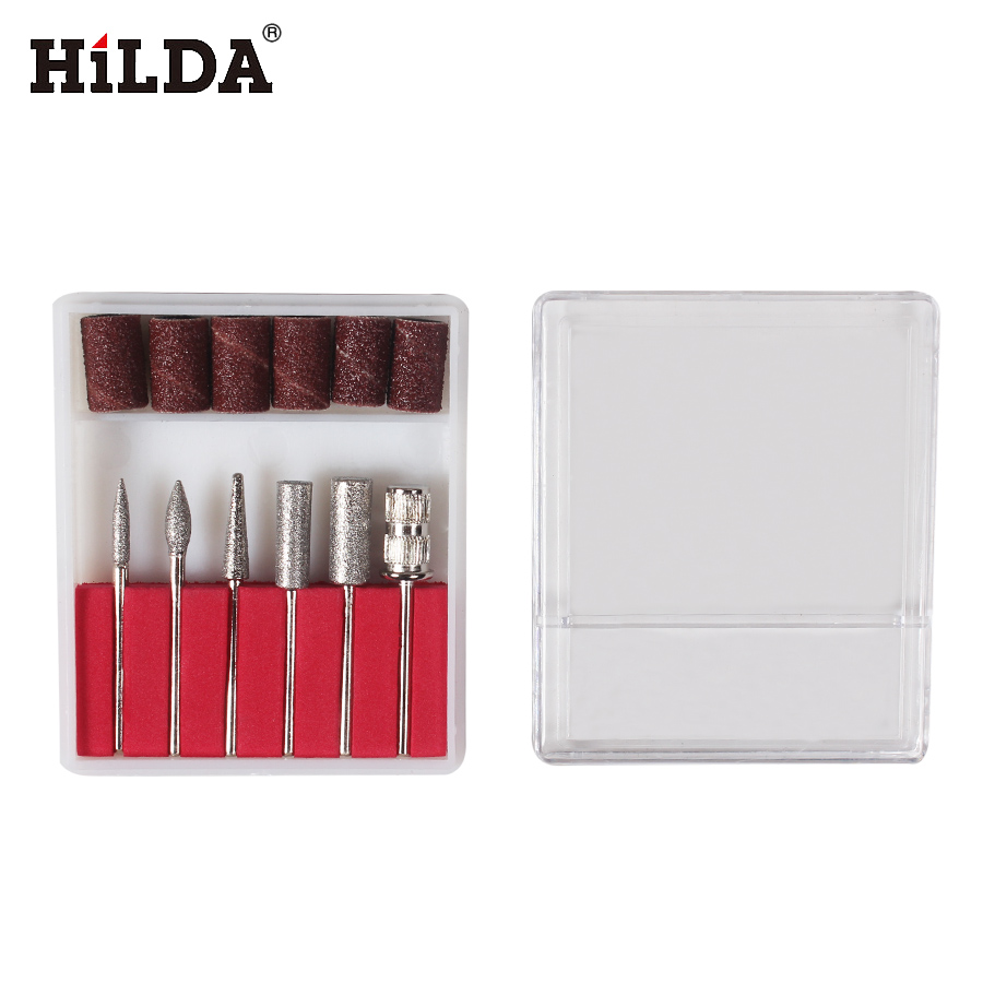 HILDA 6PCS Emery Grinding Head For HILDA Tools +6PCS Sanding Bands Dia. 12.7mm With Drum Sander for Drill Bits Machine vibration type pneumatic sanding machine rectangle grinding machine sand vibration machine polishing machine 70x100mm