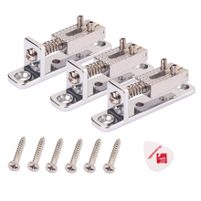 3pcs Guitar Trem Tremolo Saddles Bridge w/ Screw & Pick Plectrum for Fender ST TL Accessories