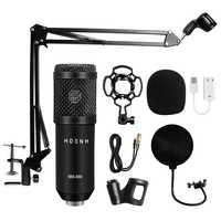 Microphone à condensateur professionnel bm 800 3.5Mm Bm-800 filaire karaoké BM800 Microphone d'enregistrement pour ordinateur karaoké KTV