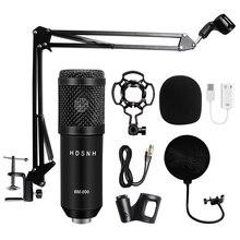 Profesjonalny mikrofon kondensujący bm 800 3.5Mm przewodowy Bm 800 karaoke BM800 nagrywanie mikrofon do komputera Karaoke KTV