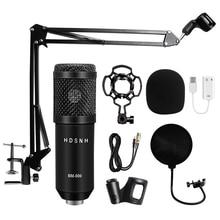 Professionale bm 800 microfono a condensatore 3.5Mm cablato Bm 800 karaoke BM800 registrazione microfono per Computer Karaoke KTV