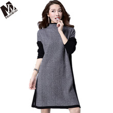 81cd9347d86 Maxdiroo Korean Womens Sweaters Dress Women Pullovers Autumn  WinterTurtleneck Sweater Plus Size Women Sweater Over Size