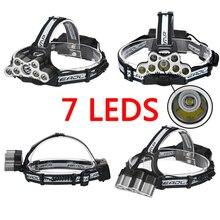 Litwod Z302309 Branco USB luz 9 LED CREE Led Farol cabeça lanterna tocha cree XM-L T6 head lamp recarregável