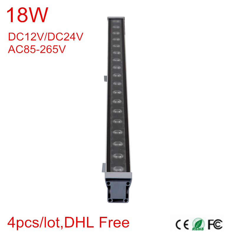 High-power 18W 46*46*1000 IP65 waterproof outdoor led flood light LED Wall washer lamp Landscape Wash wall light 12V-24V/85-265V 18w 24w 30w 55 60 1000mm ip65 led wall washer light lamp outdoor waterproof landscape light linear bar lamp warmwhite white rgb