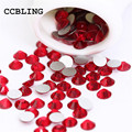 CCBLING ss3 -ss30 Flat Back Crystal Light Siam 3d Nail Art crystal decorations ) Non Hot Fix Glue on rhinestones for nails stone