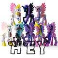 EI 14 CM rainbow brinquedos cavalo Lunares cósmicas Rima princesa poni Princesa Menina enfeites de Boneca jogo do presente De Natal presente de aniversário boneca