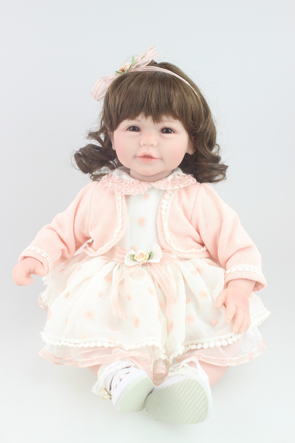 NPKCOLLECTION Beautiful doll curls hair New design Reborn toddler girl doll sweet baby doll festival Gift Toys for friends original winx club bloom musa beautiful girl magiche fan doll collection toys