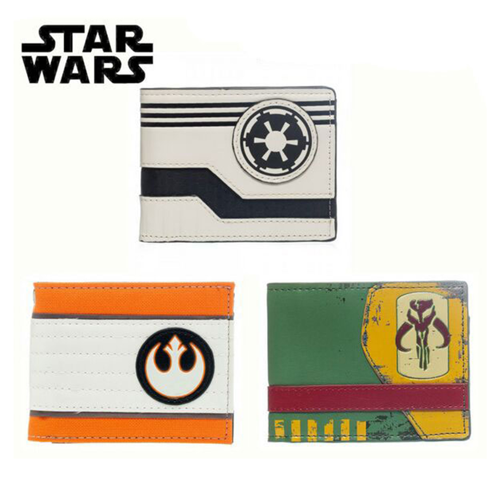Star Wars Wallet Mandalorian Logo Boba Fett Faux Rebel Alliance & Galactic Empire Wallet With TagShort Wallet For Men