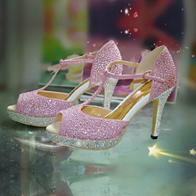 Frauen Rosa Sexy Offene spitze Ferse T-strap Schuhe Mode Dame Kleid Schuhe campagus Echt Leder Brautschuhe Prom Sandalen