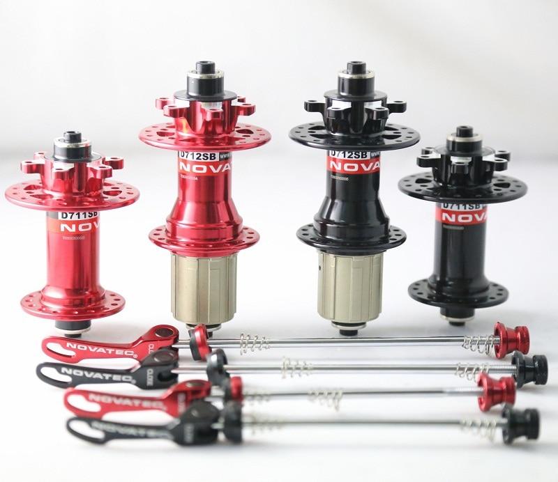 Цена за Новатек D711SB/D712SB MTB велосипед концентраторы, горный велосипед дисковые концентраторы, с быстрого освобождения. 28 отверстие
