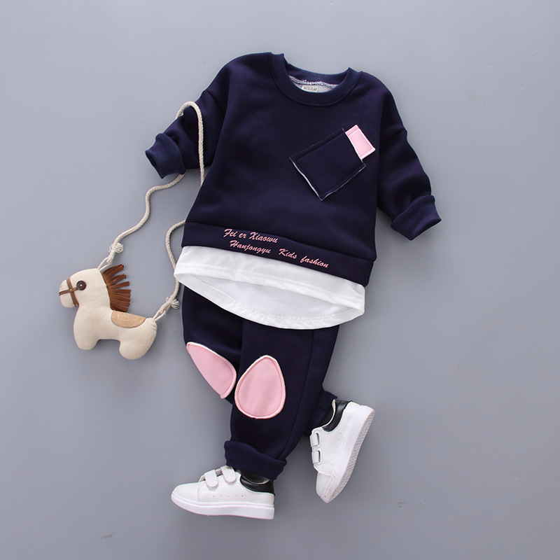 Christmas costumes 2017 Winter Children Clothing Newborn Baby Boys Clothes Tracksuit Thicken Kids Sweater+Trousers 3 Piece Sets