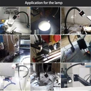 Image 5 - 6PCS/Box 9W 24V/220V Soft Rod Aluminum High Power LED CNC Machine Light Working Table Lamp Milling Machine Lights