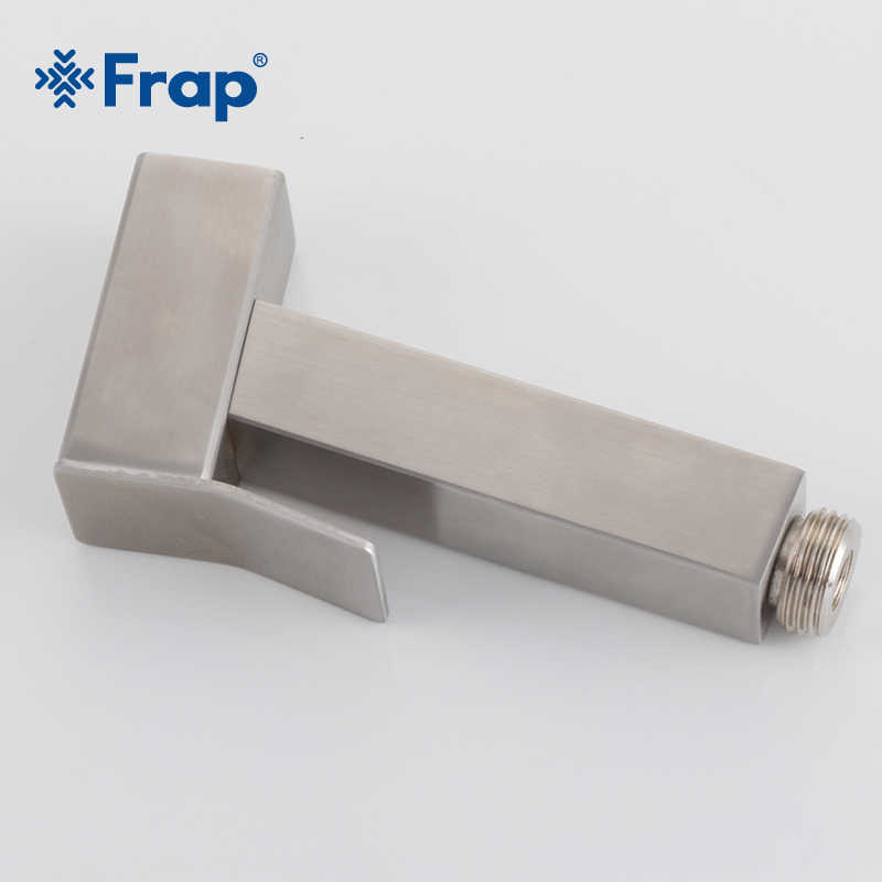 Frap ステンレス鋼の正方形ビデ蛇口ハンドヘルドスプレーペットシャワースプレーヘッドシャワートイレ洗浄浴室トイレ Y50008