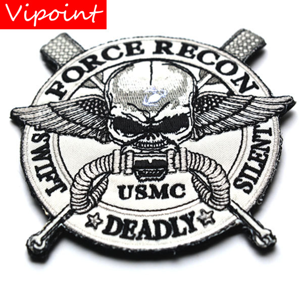 VIPOINT embroidery HOOK&LOOP <font><b>usmc</b></font> <font><b>patches</b></font> force recon <font><b>patches</b></font> badges applique <font><b>patches</b></font> for clothing AD-80 image