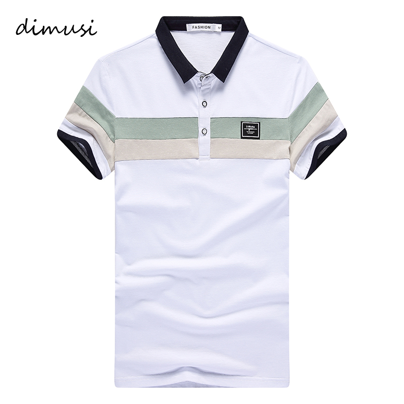 DIMUSI Summer Mens   Polo   Shirts Male Casual Cotton Short Sleeve Shirts Mens Printed   Polo   Tees Hombre Brand Clothing 4XL,YA747