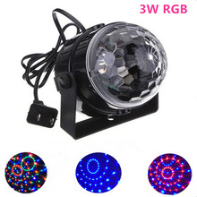 Mini Magic Ball Stage Lights 3W effect Rotating Effect Bar Disco DJ Party Magic Ball Lamp 110V220V holiday lighting socket US EU eu us plug ktv club bar mini rotating led rgb crystal magic ball effect light disco dj stage business lighting ac220v