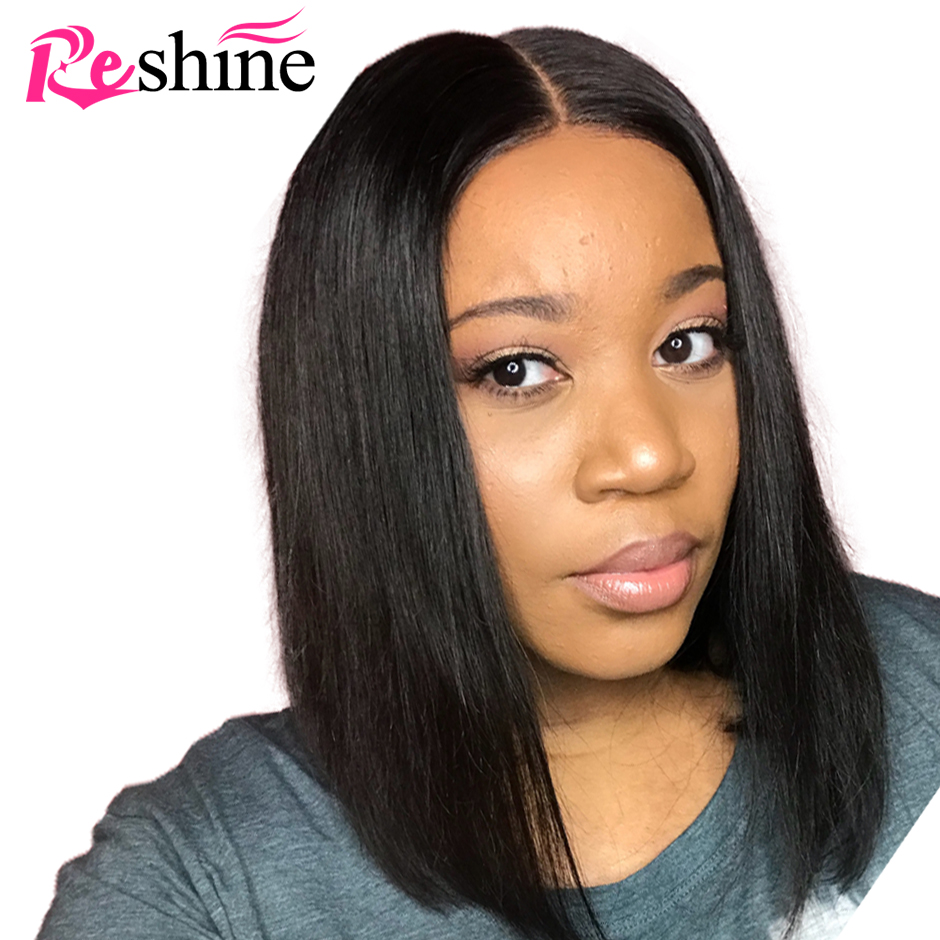 Short Bob Lace Front Human Hair Wigs For Black Women Brazilian Remy Bob Wig With Baby