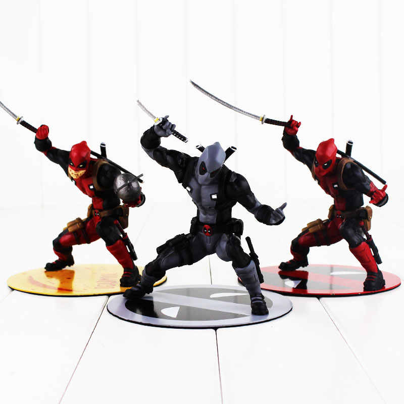 Deadpool ARTFX 3 estilos 13.5 cm X-Men Toy Figura Deadpool Wade Winston Wilson Com Arma Espada Modelo Legal boneca