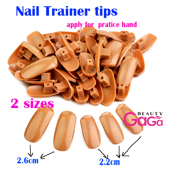 Beauty Care Original Type Super Flexible Rotate Art Nail Trainning Practice Hand 300pcs Implant False Tips Trainer In Equipment From