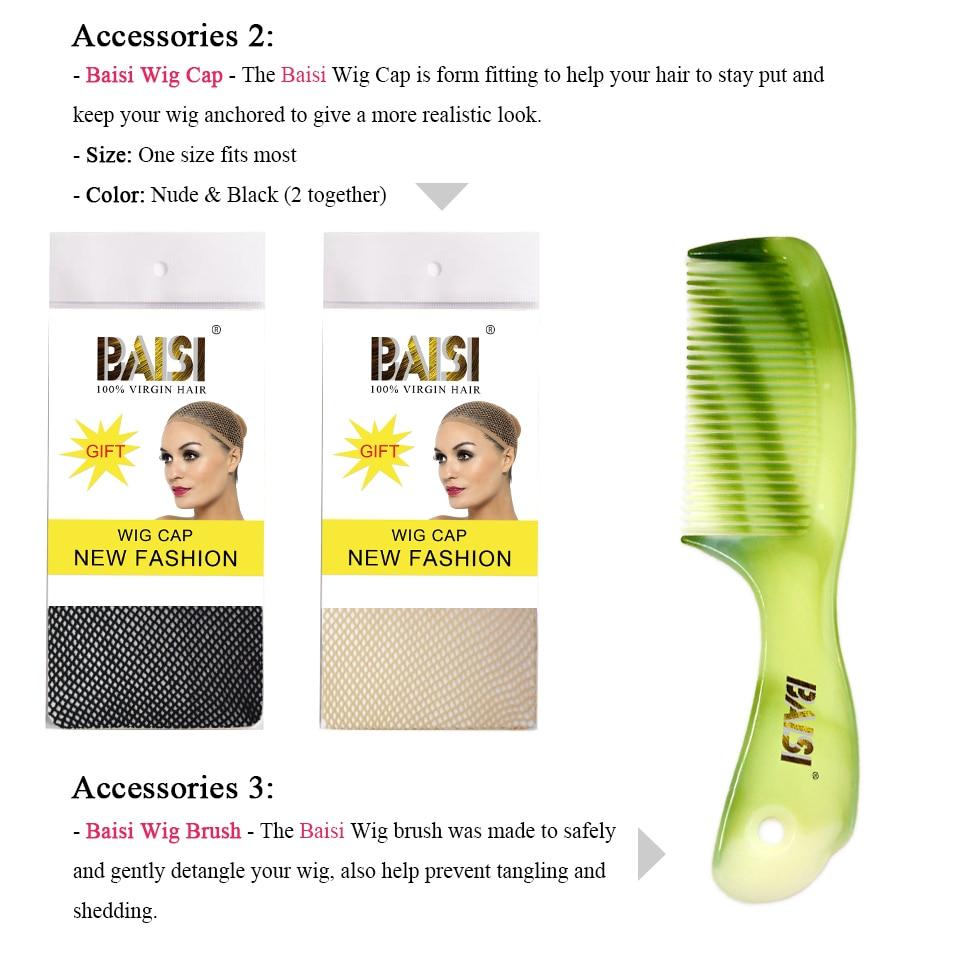 BAISI Body Wave Brazil 360 Lace Frontal 100% Hair Remy Hair Hairline - Rambut manusia (untuk hitam) - Foto 5