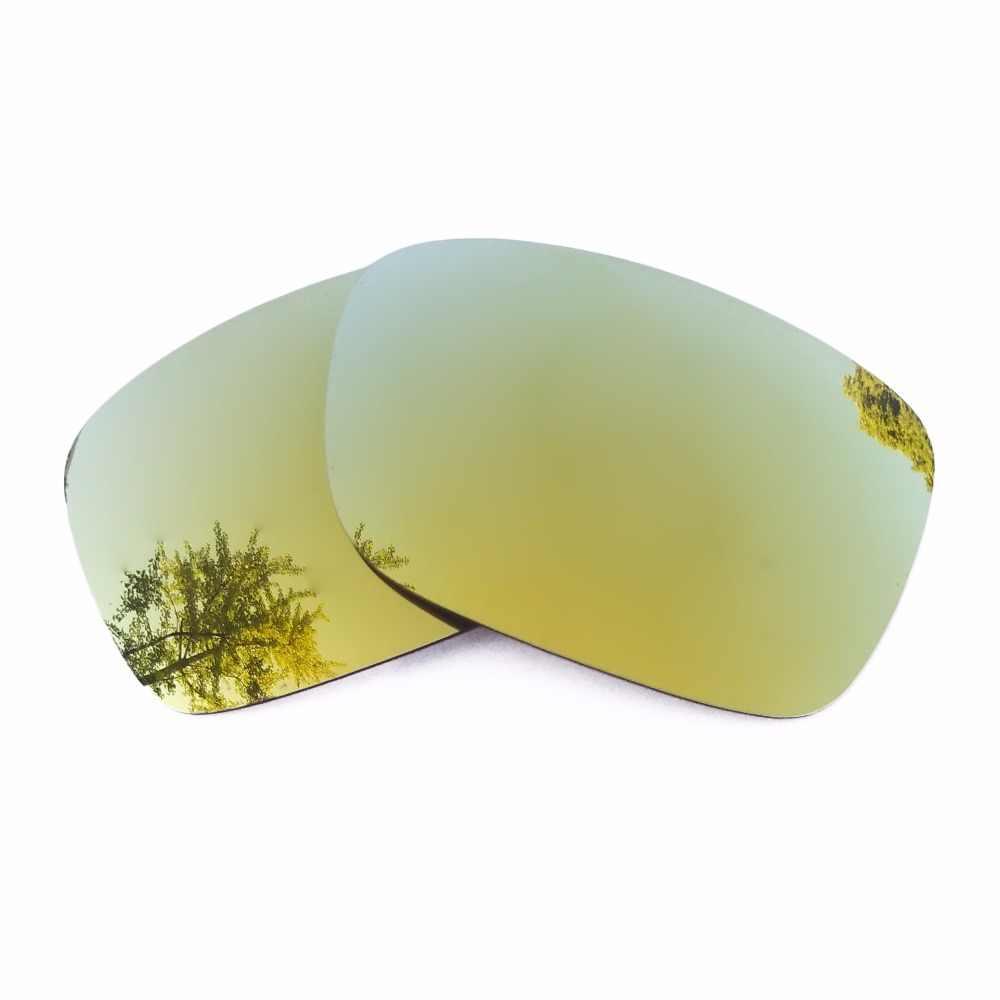 24K złota lustrzane spolaryzowane wymienne soczewki wału korbowego dla wału korbowego oprawka do okularów słonecznych 100% ochrona przed promieniowaniem UVA i UVB