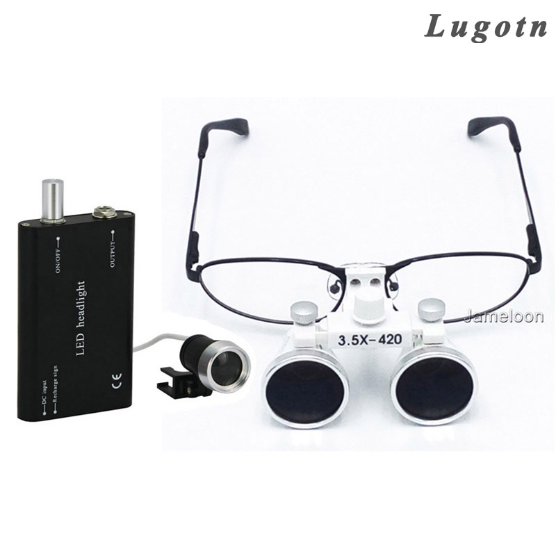 3.5X enlarger replaceable nearsighted glass surgical loupes operation magnifying dental magnifier