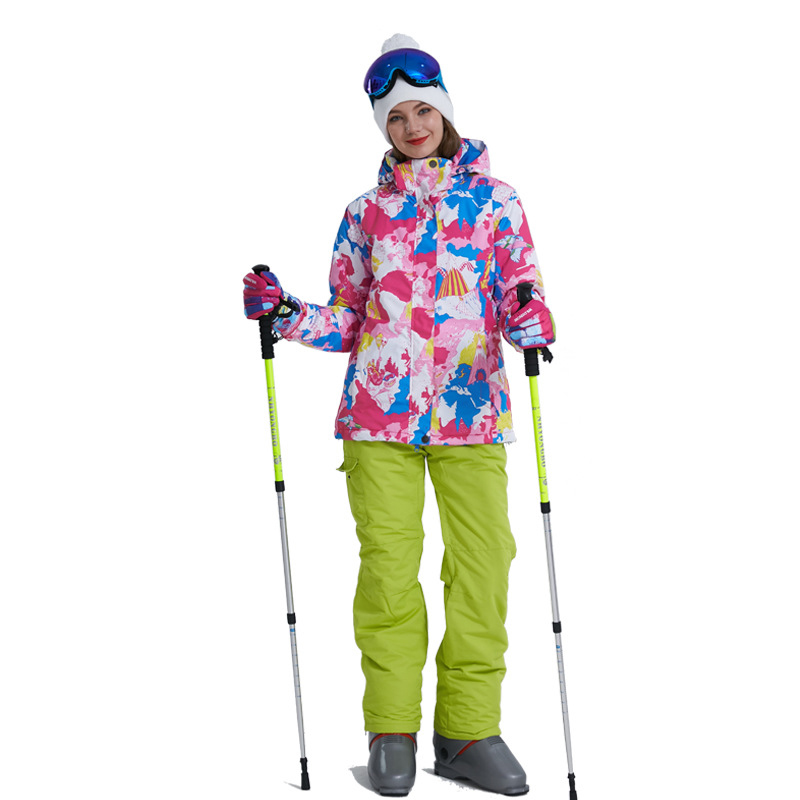 Для женщин лыжный костюм Зима 2018 Высокое качество Теплые Водонепроницаемый ветронепроницаемая одежда зимние штаны и куртка Лыжный Спорт С