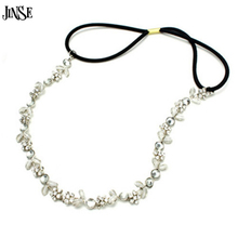Bohemian Boho Headpiece Pearl Crystal Branches Flower Head Chain Headband Accessories Bride Wholesale Hair Jewelry For Women trendy style new fashion hot women handmade pearl head chain jewelry headband headpiece hair band gift 1pc
