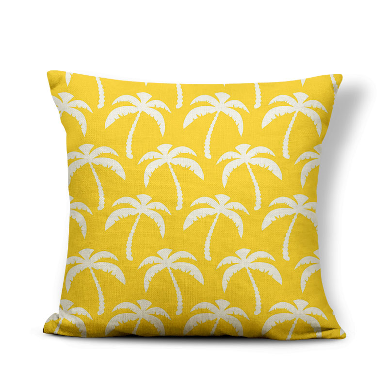 Palm Tree Pillow Rainforest Plant Pillow Case Zaka Recliner For Living Room Throw Pillow Cover 45cm Polyester Cotton Sublimation
