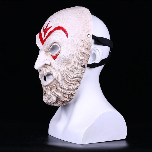 Assassin Creed Odyssey Villain Master Cosplay Resin Mask Halloween Party Mask 3