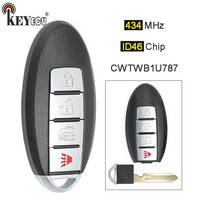 KEYECU 1x/ 3x 434MHz CWTWB1U787 Replacement Smart Remote Key Fob 3+1 4 Button for Infiniti M37 M56 QX56 Q70 HYBRID