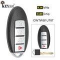 KEYECU 1x/3x434 MHz CWTWB1U787 Vervanging Smart Remote Key Fob 3 + 1 4 Knop voor Infiniti m37 M56 QX56 Q70 HYBRID