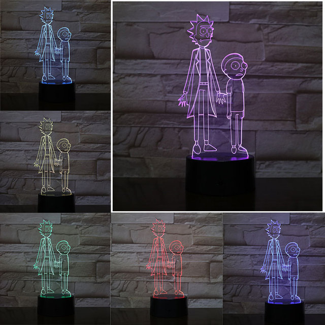 3D RICK AND MORTY LED LAMP