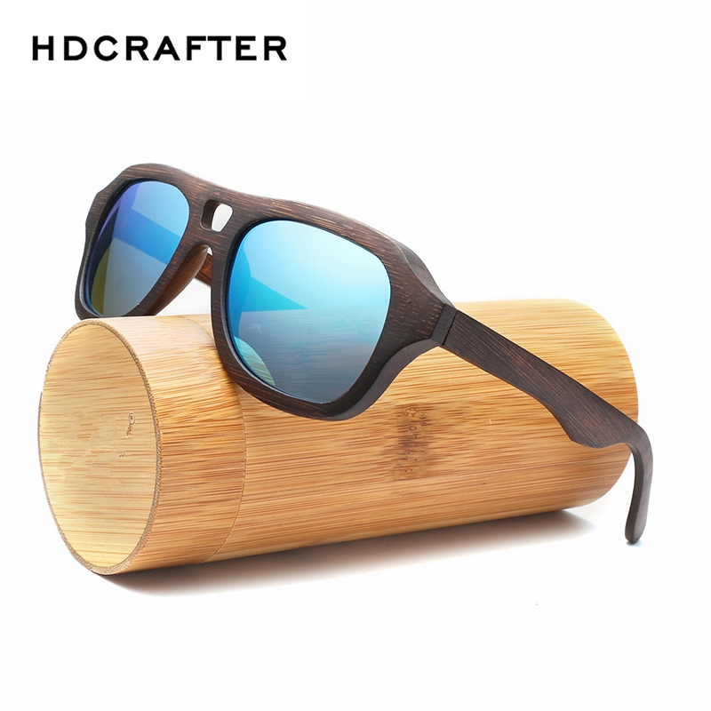 4c60068b107 HDCRAFTER new wood retro sun glasses polarized UV400 sunglasses for men and  women with original box