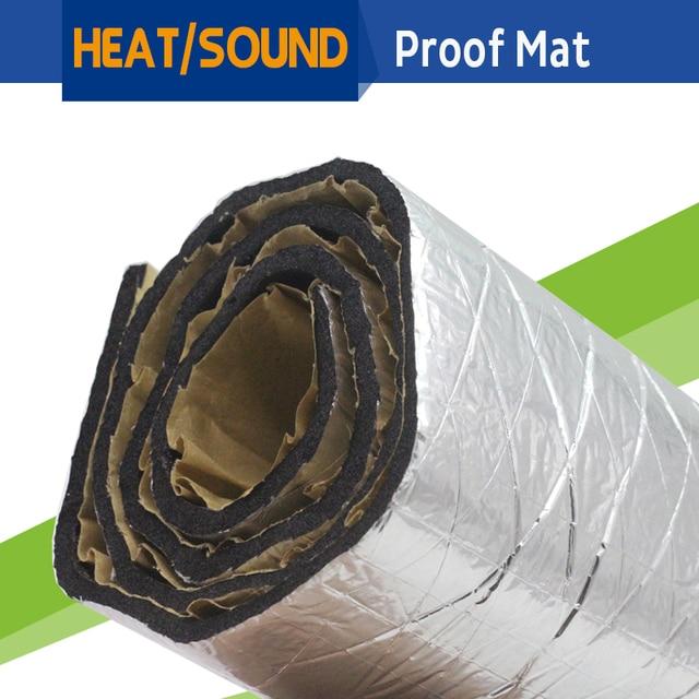 "72"" x 40"" Car Heat Thermal Sound Shield Insulation Proofing Mat Pad Deadener Noise Control Material Aluminum Foil Deadening"