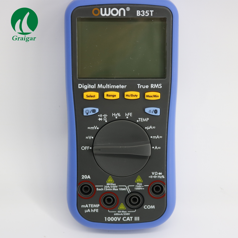 B35T OWON DM Series Digital Multimeter datalogger+multimeter + temperature meter function as 3 in 1,support via smart power-off owon b35t 3 in 1 datalogger true rms multimeter temperature tester recording bluetooth 4 0 android