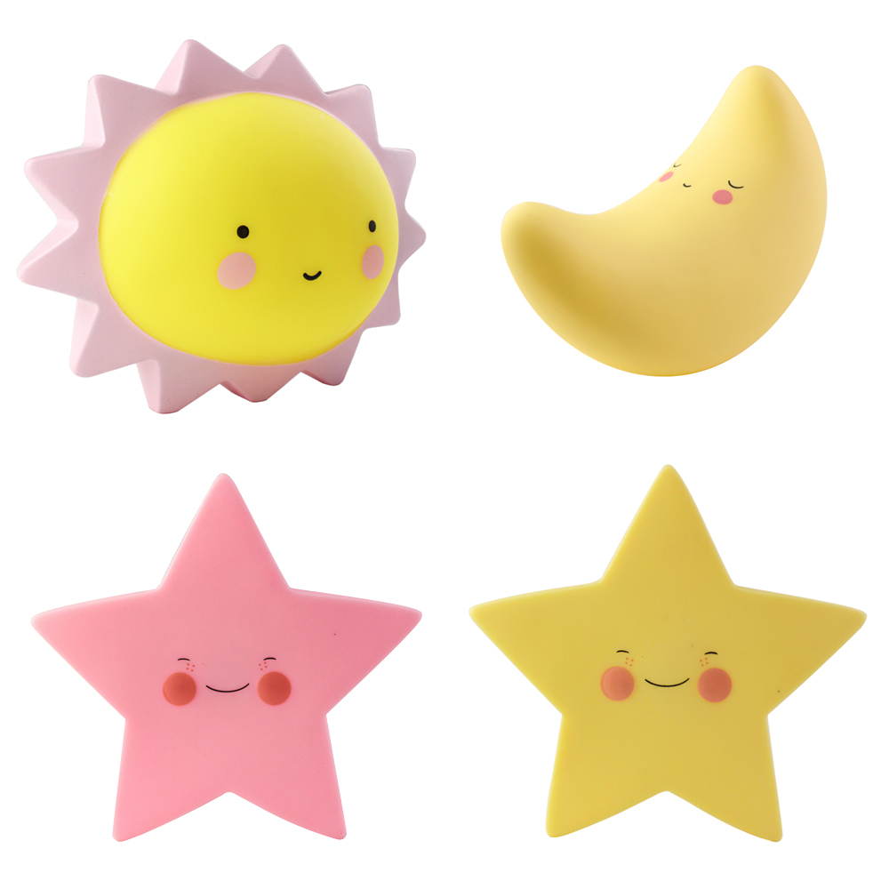 Novelty Cute Baby children kids Star Sun Moon bedroom home ...