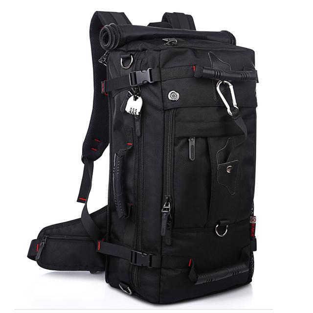 Mochila Laptop Sacos de Ombro Grande Capacidade de 40L Homens Multifunções Bagagem Sacos de Viagem de Alta Qualidade Mochilas Oxford À Prova D' Água