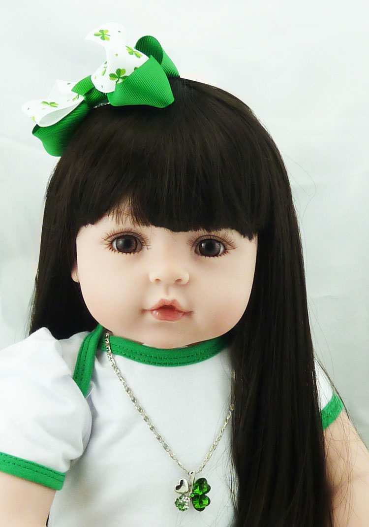 55cm Lifelike silicone vinyl reborn baby toddler dolls font b toy b font simulated doll hight