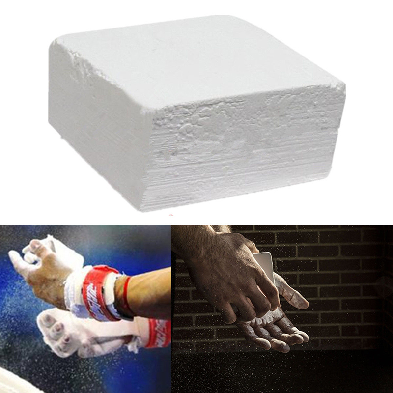 2018 New White Magnesium Gymnastic Gym Weight Lifting Parallel Bars Carbonate Chalk Block For Gymnastic Rings Training Sports