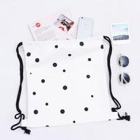 2017 New Canvas Backpack Students School Bag For Teenage Girls Cute Backpacks Street Bags Dot Print Rucksack mochila YF06