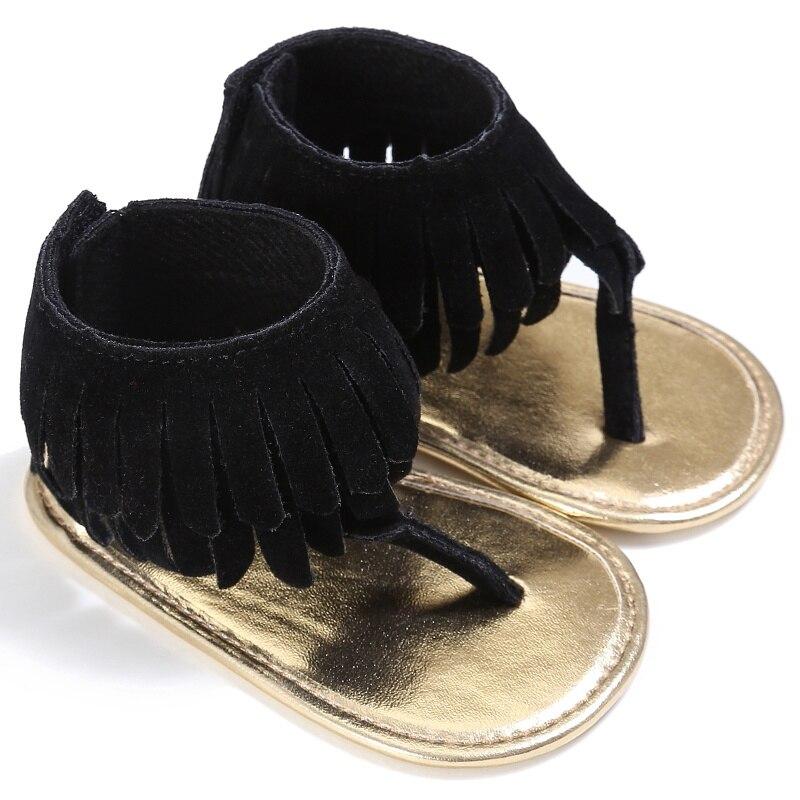 2017 Toddler Newborn Girl Baby Shoes  Tassel Sandal Summer Shoes Anti-slip Flip Flop For Baby Girls 0-18M