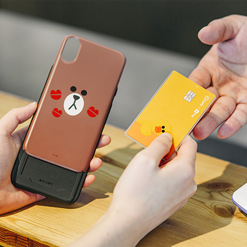 Slide Phone Cases For iPhone 6 6s Plus 7 8 X Xs Brown Bear Make Up Mirror Card Slot Silicone Shockproof Cute Cartoon Covers SJ15 in Fitted Cases from Cellphones Telecommunications