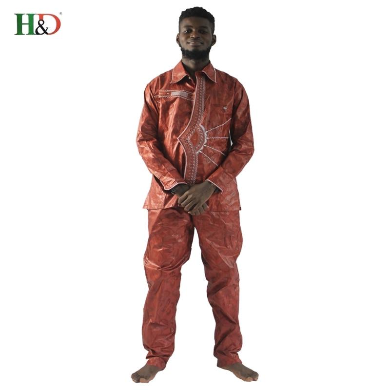2018 afrikanske menn klær nye mote bazin riche sett mann topper og - Nasjonale klær - Bilde 4