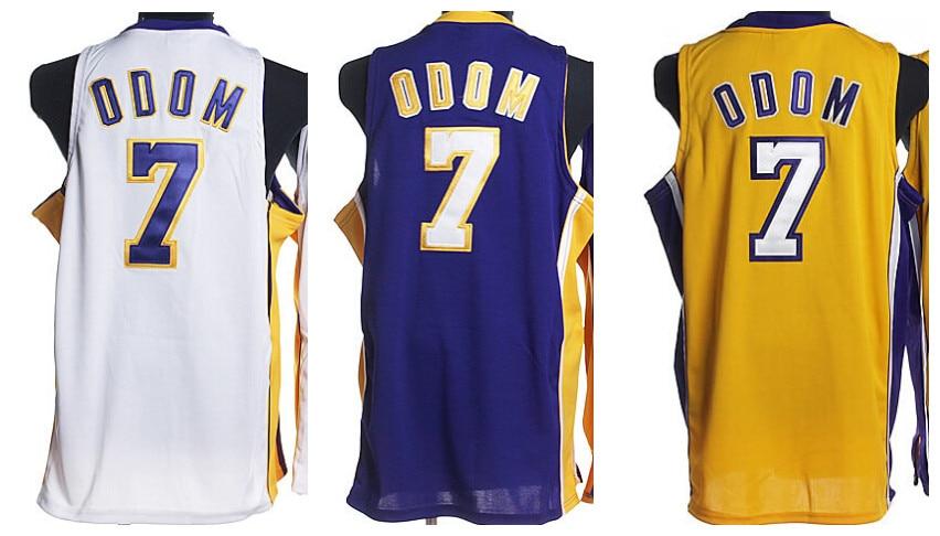 58c65966678b8 ... Cheap Los Angeles Jerseys Kardashian 7 Lamar Odom Jersey REV 30  Embroidery Basketball Jersey Short