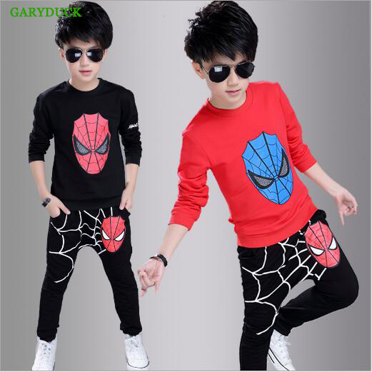 GARYDUCK Kids Boys Suits Clothing Baby Boys Printed Spider man Sports set 3-10 Y Kids 2pcs Sets Spring Autumn Clothes Tracksuits spiderman children boys suits clothing baby boy spider man sports set 3 12 years kids 2pcs sets spring autumn clothes tracksuits