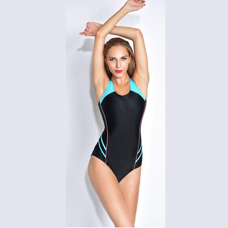 Sports Triangular One Piece Swimsuit Professional Swimwear Women Bathing Suits Brazilian Bikini Swimming Bodysuit Bandage Print