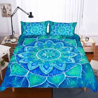 Blue purple multicolor Bedding Kit for Adult Bedroom Full Queen King Bed Set Bohemian Bed Covers Boho Duvet Cover Quilt cover