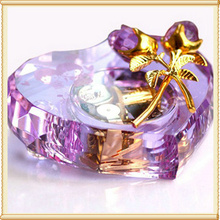 Free Shipping 1pcs/Lo13*13*3cm  K9 AAA crystal material Color crystal  music box for hot selling gift