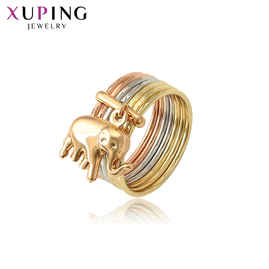 11.11 Deals Xuping Jewelry Exquisite Baby Elephant Pattern Colorful Ring for Women New Year's Day Thanksgiving Gift S119.4-15736